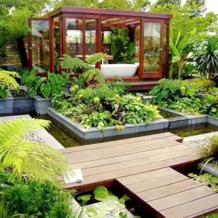 Un jardin moderne de l esth tique l utilitaire for Photo de jardin moderne